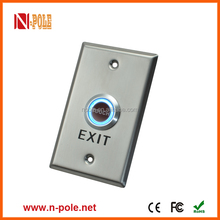 N-Pole touch exit button switch with stainless steel materials