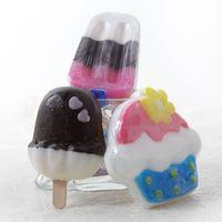 5pcs/lot Handmade Cute Ice Cream Soap Cleaning Bath Essential Oil Moisturizing Whitening Perfume Soap Free Shipping