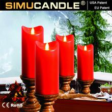 Led chiesa candela con in movimento della fiamma e USA, brevetto europeo