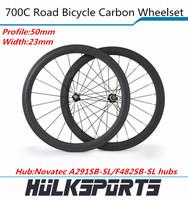 50mm carbon tubular wheelset for road bike Toray T700 road bike wheels of 23mm width of carbon tubular wheels