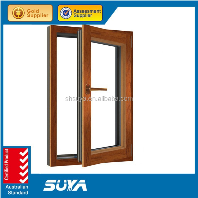 Aluminium Wood Composite Window Aluminum Casement Windows