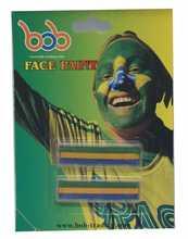Brazilian World Cup face paint custom stickers die cut