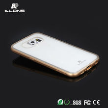 High quality! Metal frame Bumper Case hard cover protective (1frame+2 TPU backup case) case for sumsung S6