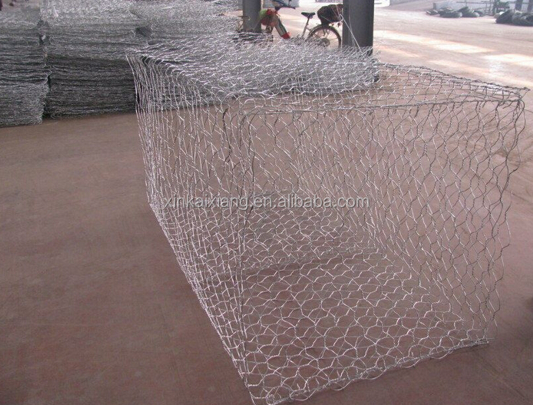 Pvc coated hot dipped galvanized gabion baskets for
