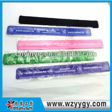 Hot Wide PVC slap bracelet glow in dark