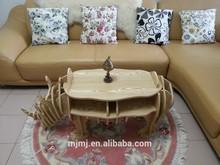 rhino de madera tallada mesa de café para el hogar o el uso de otros