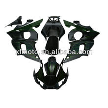 For Yamaha YZF R6 YZF-R6 98-02 Flame Green ABS Plastic Fairing Body Work Set