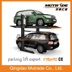 vertical 2 post concrete floor car lift