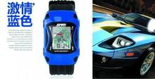 Children's Cartoon Fashion Car Shape Kids Digital Watch,silicone strap led clock