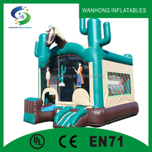 Horse cartoon inflatable castle inflatable combo