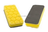 Car Washing Square Magic Clay Pad Applicator Hex Logic Yellow Heavy Cutting