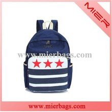 Backpack with stars printing universtity college back packs bag