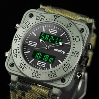INFANTRY Luminous Mens Military Army Stylish Digital Analog Sport Quartz Wrist Watch Rubber & Camo Leather Straps