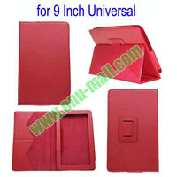 Cheap Universal Leather Case for 9 Inch Tablet PC With Stand (Red)