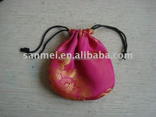 satin gift bag/satin jewelry packing pouch