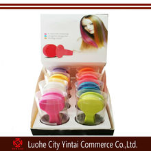 TV Hot Sell Non-toxic rainbow temporary powder form color hair color chalk, cosplay temporary hair dye