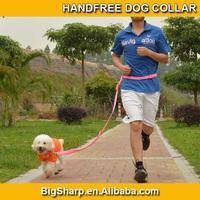 100pcs High quality Handfree Nylon Dog Leash Walk Run lead the pets dog collar and leash nylon dog leash material HF-2501