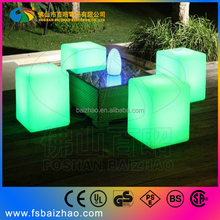 wholesale Patio furniture battery mini led remote control lights,swimming pool led cube light seat with waterproof IP68