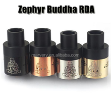 zephyr buddha rda in stock the 28.5mm 26650 size rda with black , cooper , ss , glod