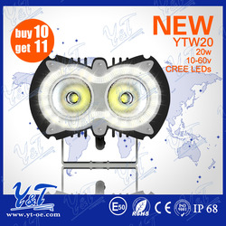 2015 NEW PRODUCT 20w led headlight motorcycle side lights most powerful motorcycle led flood light