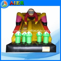 Speed and passion inflatable slide, skate boy inflatable slide, inflatable skate slide