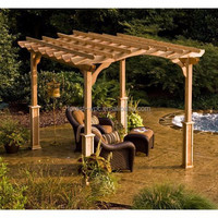 high tensile strength and corrosion-resistant wpc garden pergola beam