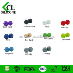 BPA free hot sale silicone teething beads pendant for jewelry