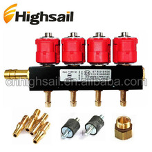 Top quality 12V 3Ohm 4Cyl LPG/CNG Injector Rail