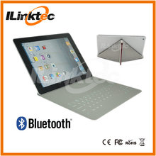 Newest Leather wireless bluetooth keyboard & case for ipad2, window, Android OS tablets