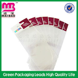 Trendy cosmetic adhesive backed plastic bags
