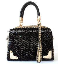 Wholesale Korean Italy Designer Leopard Bling Ladies Women's HandBag Shoulder Bag Tote Bag Handbags