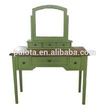 Dressor pintado, mueblesdeldormitorio tocador con espejo,de la cómoda maquillaje clásico mesa de tocador con espejo