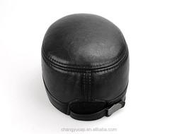 Haute Couture PU Flat Cap/Ear protection Cap/Cotton-Padded Cap