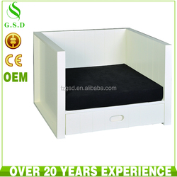 cheap white wood indoor pet dog kennel house design wholesale