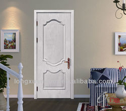 Finely processed hand carved wooden door