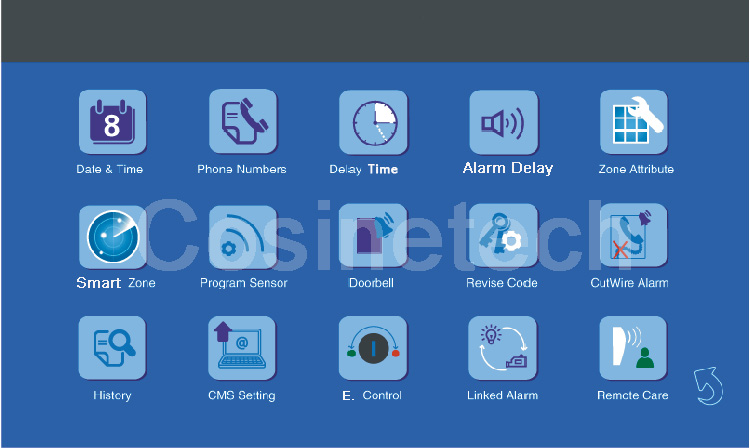 enhanced gsm alarm system user manual italiano