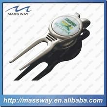 custom cool 3D zinc alloy metal magnetic repair golf divot tool