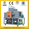nuevo tipo sin la contaminación de fácil operación utiliza mobil de reciclaje de aceite de la máquina