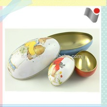 Egg shape metal toy for 3-9 years old child