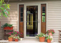China very good supplier glass office double doors with professional engineers team DS-LP5118