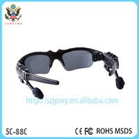 International stereo bluetooth specialized sport sunglasses with optical insert lens
