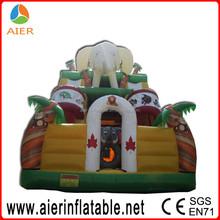 Kids playground inflatable dry slide