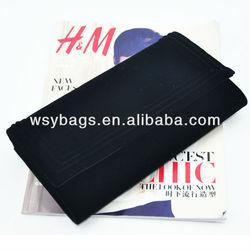 black mature flannel clutch bag for women