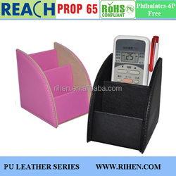 Hot Sale PU Leather Office Organizers controller Holder Storage Boxes