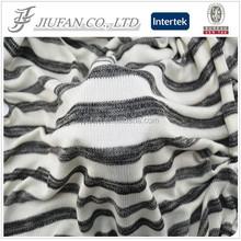 Jiufan Textile Polyester Rayon Spandex Cut & Sew Yarn Dyed Fabric For Lady's Sweater Garment