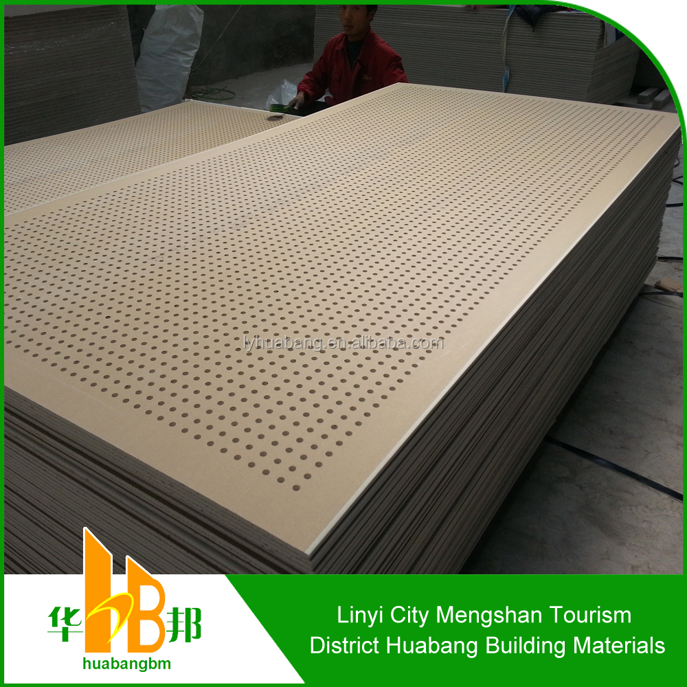 Eco friendly perforated gypsum board