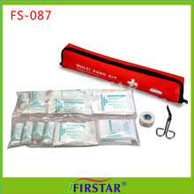 Security devices waterproof emergency first aid kit 52 piece