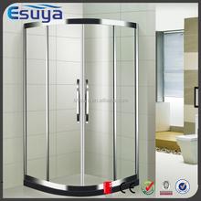 Deluxry hotel bathroom design bath shower aluminum quadrant sliding shower rooms