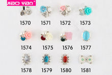 Wholesales 2000 styles metal alloy rhinestones 3D nail art charms #1119