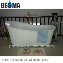 BESMA's clear acrylic adult portable custom size antique bathtub;acrylic resin bathtub B-7204